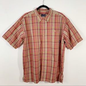 PATAGONIA . Button Front Plaid S/S Shirt . L